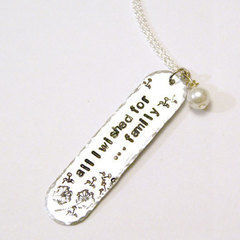 Significant Mothers Day Jewelry   Stamp An Initial Pendant Necklace