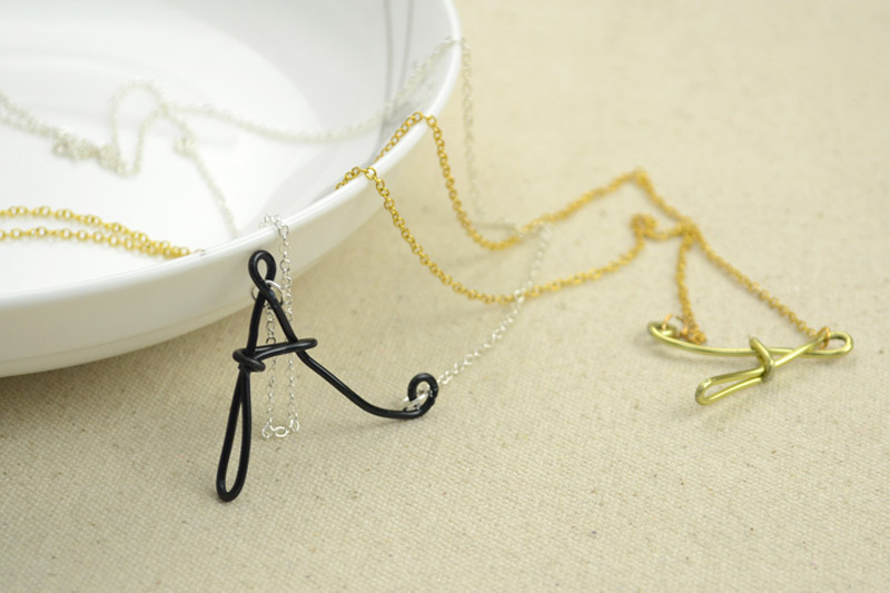 Easy Jewelry Making Ideas Wire Wrapped Initial Necklaces · How To ...