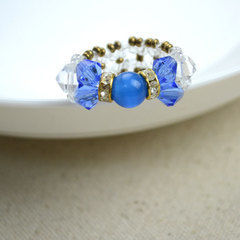 Diy Bow Rings For Mothers Day Out Of Seed Beads And Glass Beads
