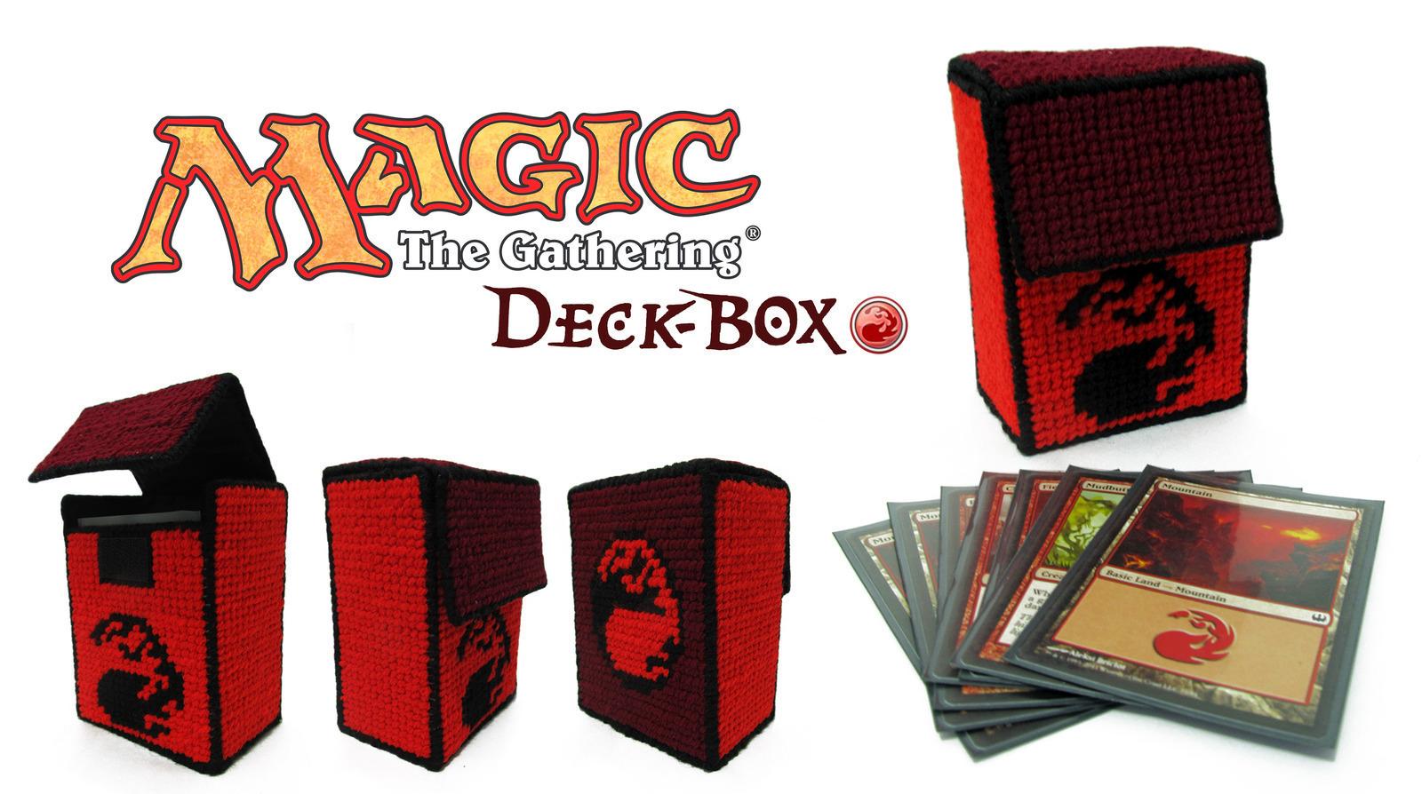 Magic The Gathering Deck Box Red Mana 183 A Box 183 Needlework