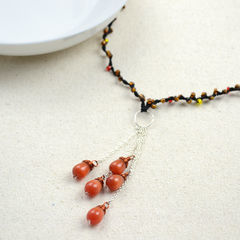 Beaded String Jewelry Diy Fringe Necklace For Girls