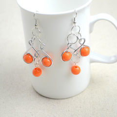 Craft Jewelry Ideas Pair Of Dainty Wire Wrapped Earrings