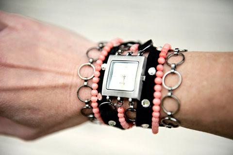 Medium mixed bracelet watch bands cool bracelet patterns with beads