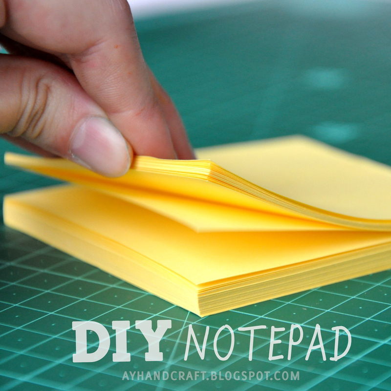 Diy: Notepad · How To Make A Notebook Journal · Papercraft