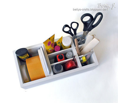 DIY desktop organizer with simple video tutorial .  Free tutorial with pictures on how to make a pot in under 40 minutes by constructing with paint, wood, and wood glue. How To posted by Betty J.  in the Home + DIY section Difficulty: Easy. Cost: Cheap. Steps: 1