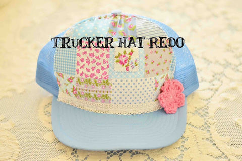 Redo a thrifted trucker hat to match your style! .  Free tutorial with pictures on how to make a baseball cap in under 30 minutes using fabric, needle & thread, and trucker hat. How To posted by maize hutton.  in the Other section Difficulty: Easy. Cost: Absolutley free. Steps: 3