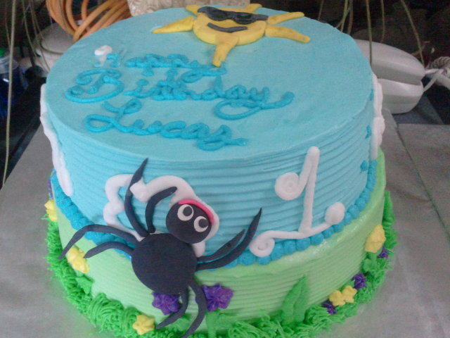 Itsy Bitsy Spider Cake An Animal Cake Recipes on Cut Out Keep