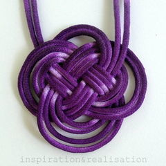 Anthropologie Inspired Dip Dyed Knot Necklace