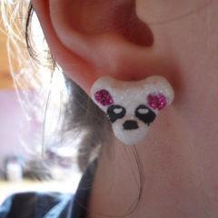 Panda Earrings