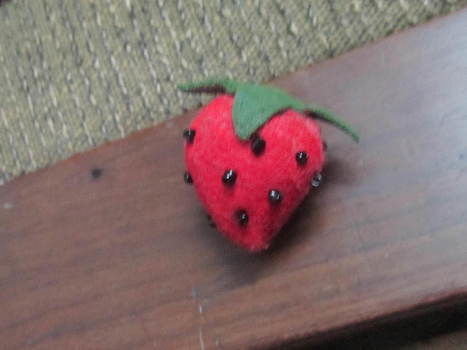 .  Make a fruit plushie in under 15 minutes by sewing and felting Inspired by strawberries. Version posted by buttercup303. Difficulty: Easy. Cost: Cheap.