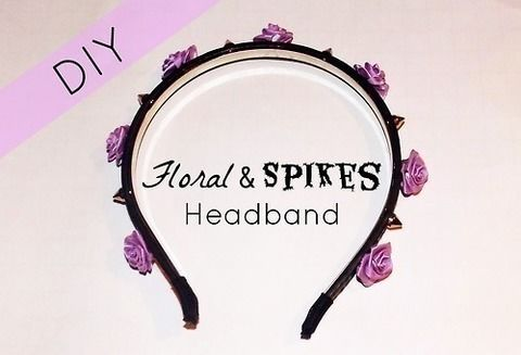 A edgy & cute headband to make .  Free tutorial with pictures on how to make an embellished headband in 1 step by hairstyling and studding with glue gun, hair band, and embellishments. Inspired by kawaii, flowers, and clothes & accessories. How To posted by Alternativelychiic.  in the Other section Difficulty: Simple. Cost: Cheap.