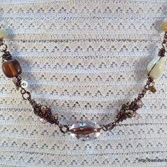 Necklace With Wire Wrapped Beads