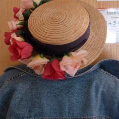 Flower Garland Straw Hat