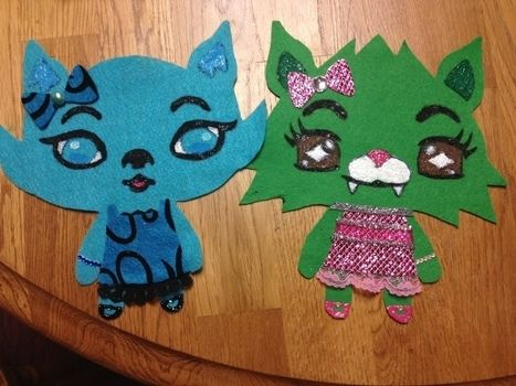 Making a felt version of your pet, using fabric paint! .  Free tutorial with pictures on how to sew a computer game plushie in under 60 minutes by embellishing, stencilling, and not sewing with scissors, felt, and paint brush. Inspired by kids and toys. How To posted by Amy R.  in the Other section Difficulty: Simple. Cost: Cheap. Steps: 10