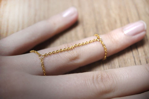 Love to DIY jewellery? This double chain ring tutorial is exact for you when you wonder how to DIY ring with a special and cool look. 2 steps help you finish it off!  .  Free tutorial with pictures on how to make a chain ring in under 30 minutes by jewelrymaking and chainmailing with jump rings, round nose pliers, and flat nose pliers. Inspired by gifts, kawaii, and clothes & accessories. How To posted by .  in the Jewelry section Difficulty: Easy. Cost: No cost. Steps: 3