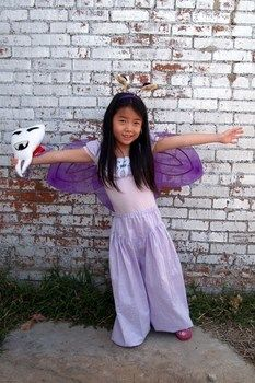 Halloween Costume for the cutest little tooth fairy in town. .  Make an chracter costume by sewing and dressmaking with fabric and thread. Inspired by fairies, costumes & cosplay, and aladdin. Creation posted by MamiTig. Difficulty: Easy. Cost: 3/5.