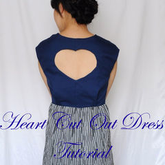 Square heart cut out dress tutorial