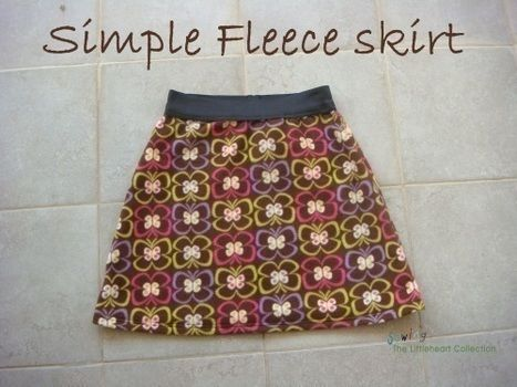 A fun skirt for the winter .  Free tutorial with pictures on how to sew a gathered skirt in under 120 minutes by sewing and dressmaking with fleece. How To posted by Mira L.  in the Sewing section Difficulty: Easy. Cost: Cheap. Steps: 1