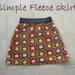 Simple Fleece Skirt With Elastic Waist