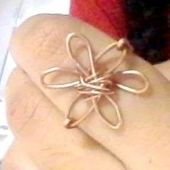 Wire Flower Ring