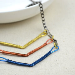 Handmade Copper Jewelry   Diy Coiled Chevron Necklace