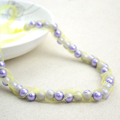 Handmade Beaded Necklaces Out Of Pearls And Ribbons