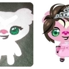 Pet Society Felt Doll Using Fabric Paint.