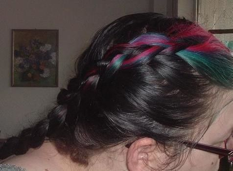 Dutch braid, asymmetrical .  Style a Dutch braid in under 5 minutes by applying makeup, hairstyling, and braiding with hair. Inspired by vintage & retro and dutch. Creation posted by Sarah Kim.  in the Beauty section Difficulty: Simple. Cost: No cost.