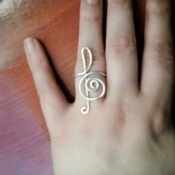 .  Make a trebel clef wire ring in under 10 minutes Inspired by vintage & retro, kawaii, and clothes & accessories. Version posted by Puchuu. Difficulty: 3/5. Cost: Absolutley free.