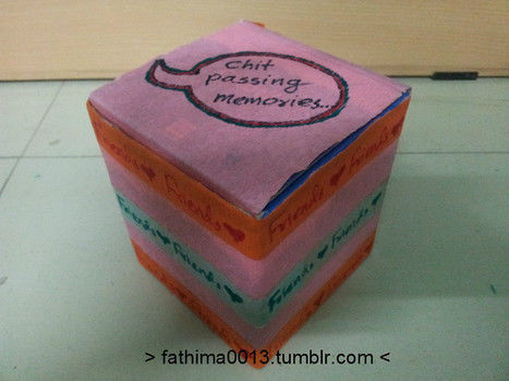 I have a lot of chits...cuz i love to chit pass in a boring class....lol.. .  Make a box in under 30 minutes by papercrafting with box. Inspired by people. Creation posted by fathima A.  in the Other section Difficulty: Easy. Cost: No cost.