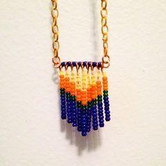 Seed Bead Tassel Necklace