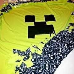 No Sew Minecraft Creeper Fleece Throw