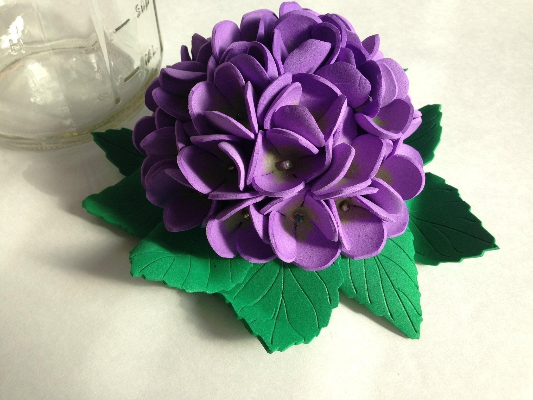 Mason jar foam flowers decorative tops how to make a flowers rosettes other on cut out keep - Flores sencillas de goma eva ...