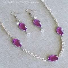 Simple Necklace And Earring Set
