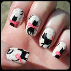 Cat Blouse Nail Art