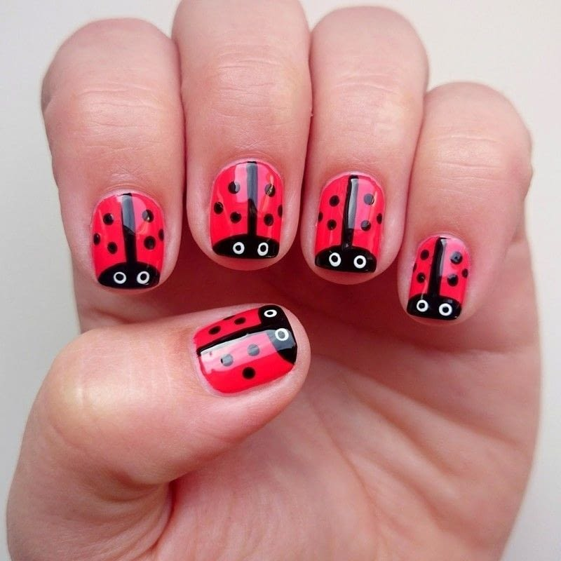 Ladybird nail art tutorial how to paint an animal nail beauty 1 prinsesfo Gallery