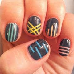 Pastel Striping Tape Nail Art Tutorial