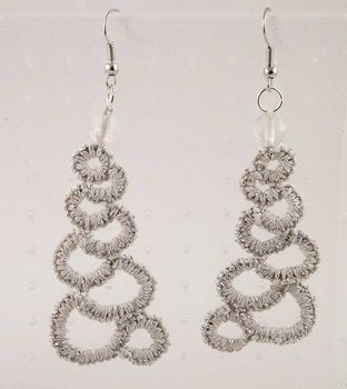 Threaded jewelry created your way. .  Stitch a set of stitched earrings in under 120 minutes using thread and tatting needle. Creation posted by DeVina D.  in the Jewelry section Difficulty: 3/5. Cost: Absolutley free.