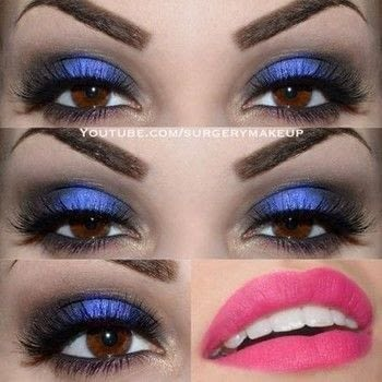 Smokey pop make up .  Free tutorial with pictures on how to create a smokey eye in under 20 minutes by applying makeup with lipstick, eye lashes, and pigment. Inspired by blue. How To posted by Lelly M.  in the Beauty section Difficulty: Simple. Cost: 3/5. Steps: 6