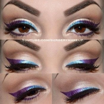 Ombre eyeliner .  Free tutorial with pictures on how to create an ombre eye makeover in under 15 minutes by applying makeup with eyeshadow, eyeshadow, and eyeliner. Inspired by ombre. How To posted by Lelly M.  in the Beauty section Difficulty: 3/5. Cost: 3/5. Steps: 6