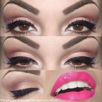 Simple and fun look .  Free tutorial with pictures on how to create a pin-up makeup look in under 10 minutes by applying makeup with eye lashes, eyeliner, and palette. How To posted by Lelly M.  in the Beauty section Difficulty: Easy. Cost: 3/5. Steps: 6