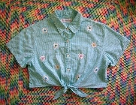 The perfect summertime DIY .  Free tutorial with pictures on how to make a crop top in under 30 minutes using scissors, measuring tape, and tailor's chalk. How To posted by Self-Constructed Freak.  in the Sewing section Difficulty: Simple. Cost: Absolutley free. Steps: 7