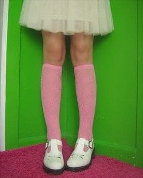 A super simple DIY for super cute knee-high socks. .  Free tutorial with pictures on how to make a pair of tights / pantyhose in under 30 minutes using tights, scissors, and sewing machine. How To posted by Self-Constructed Freak.  in the Sewing section Difficulty: Easy. Cost: Absolutley free. Steps: 6