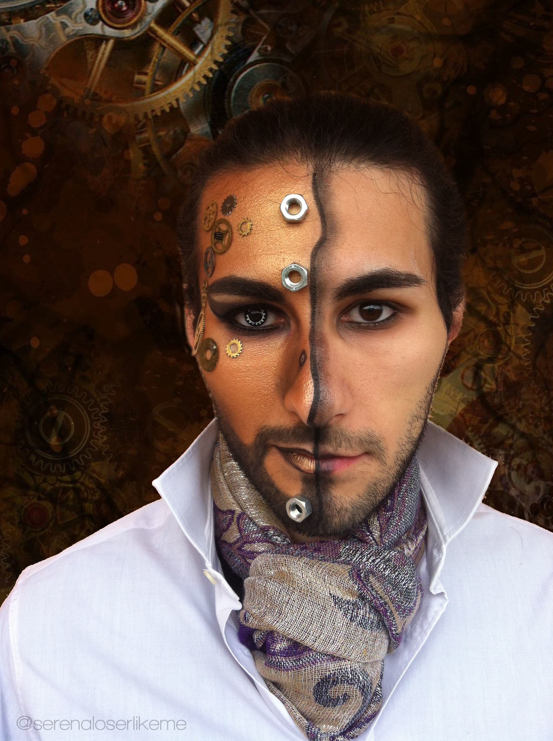 Steampunk Hero Makeup Tutorial 183 How To Create A Face Painting 183 Beauty On Cut Out Keep