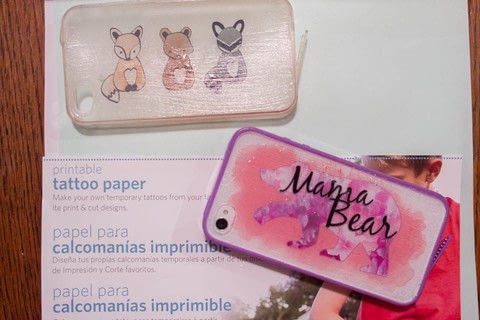 Tattoo Your Phone Case .  Free tutorial with pictures on how to make a phone case in under 30 minutes by decorating with decoupage glue, phone case, and temporary tattoo paper. How To posted by Kate H.  in the Art section Difficulty: Simple. Cost: Cheap. Steps: 10