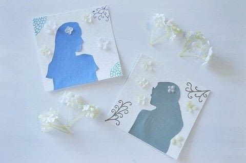 A beautiful customized project using an easy profile technique! .  Free tutorial with pictures on how to make silhouette art in under 25 minutes by creating with paper, glue stick, and images. How To posted by Les Petites Chéries.  in the Art section Difficulty: Simple. Cost: 3/5. Steps: 7