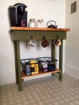Use Old Fashion Milk Paint for a Rustic Look .  Free tutorial with pictures on how to make a painted table in 7 steps by decorating with pitcher, sponge brush, and water. How To posted by Princess Pam-attitude .  in the Decorating section Difficulty: Easy. Cost: Cheap.