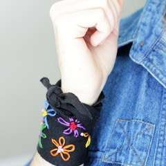 Diy Embroidered Wrap Cuff