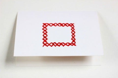 Learn how to embroider paper with this easy tutorial! .  Free tutorial with pictures on how to stitch an embroidered card in under 45 minutes by embroidering, cardmaking, and embroidering with embroidery floss, sewing needle, and cards. How To posted by Melody M.  in the Needlework section Difficulty: Easy. Cost: Cheap. Steps: 4