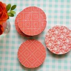 Make Colorful Wood And Paper Coasters